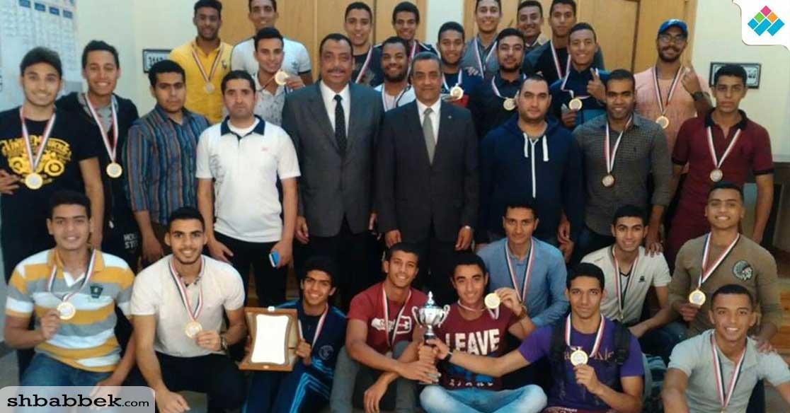 طلاب جامعة الإسكندرية يحصدون المركز الأول في العروض الرياضية