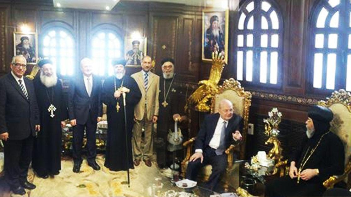 رئيس جامعة الزقازيق يزور مطرانية الشرقية