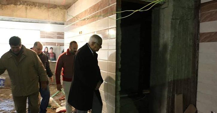 رئيس جامعة المنصورة يتابع أعمال الصيانة والتجديدات بالمدن الجامعية