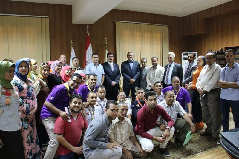 جامعة بني سويف تكرم الفائزين بأسبوع شباب الجامعات
