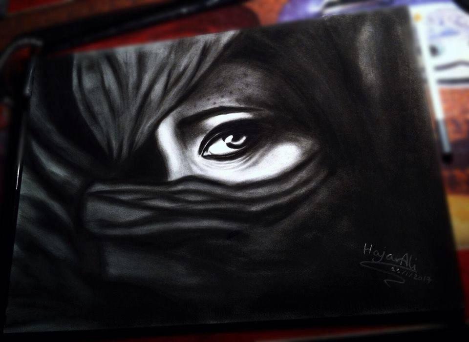 رسم وتظليل.. مشاركات الطالبة هاجرعلي