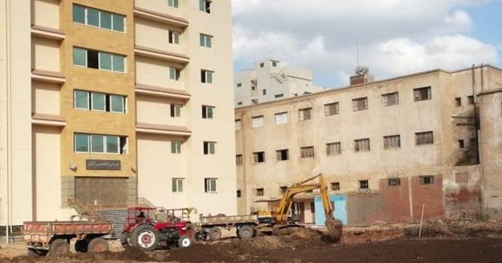 إنشاء مبنى جديد للمدرجات في كلية التربية جامعة طنطا