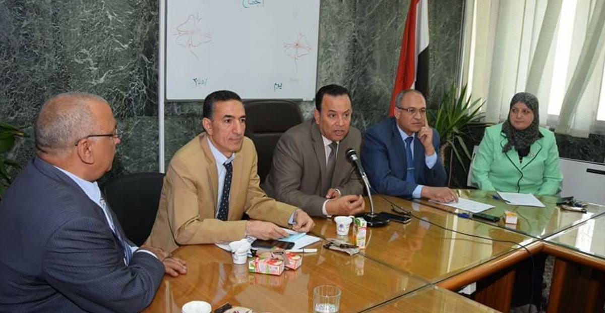 رئيس جامعة المنوفية يرأس مجلس كلية الزراعة
