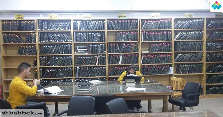 مكتبة كلية الآداب جامعة بنها.. خدمات بحثية وثقافية ودورات تدريبية