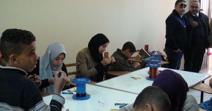 افتتاح مركز التدريب على الحرف والصناعات الصغيرة في جامعة المنيا