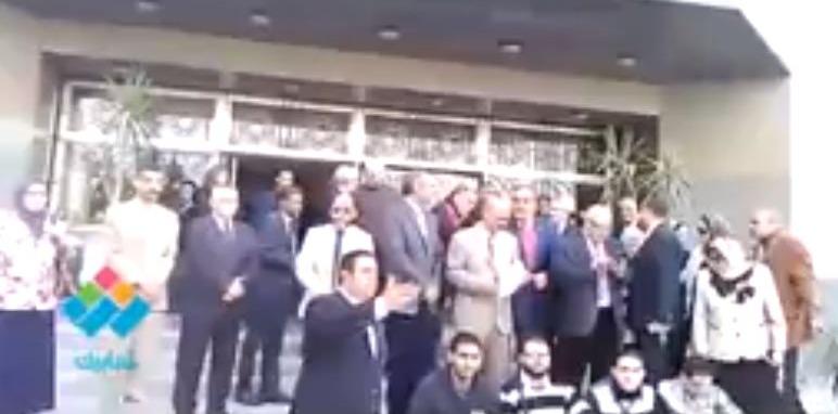وقفة تضامن مع القدس في جامعة حلوان