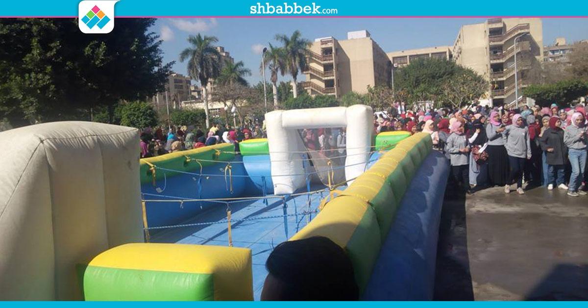 إقبال كبير من الطالبات على مهرجان الأنشطة في «بنات عين شمس»