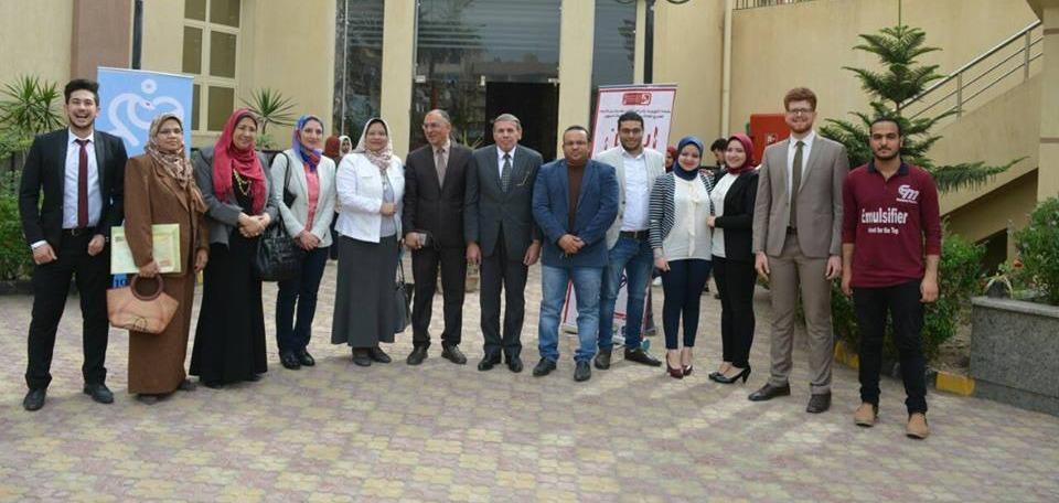 «EPSF» بجامعة دمنهور يطلق حملة توعية بأمراض القلب