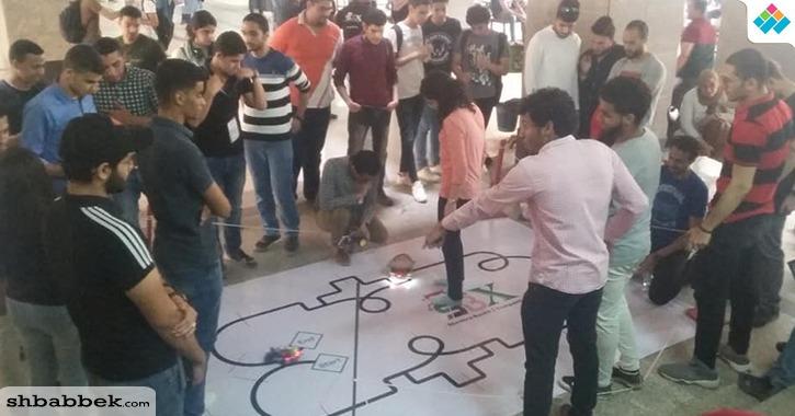 45 فريقا يشاركون في مسابقة الروبوت بكلية هندسة شبرا جامعة بنها