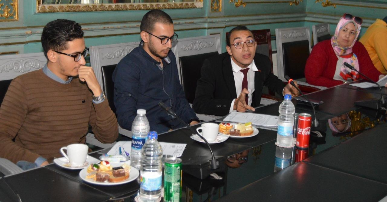محمد طه ممثلا لطلاب ذوي الاحتياجات الخاصة في اتحاد جامعة عين شمس