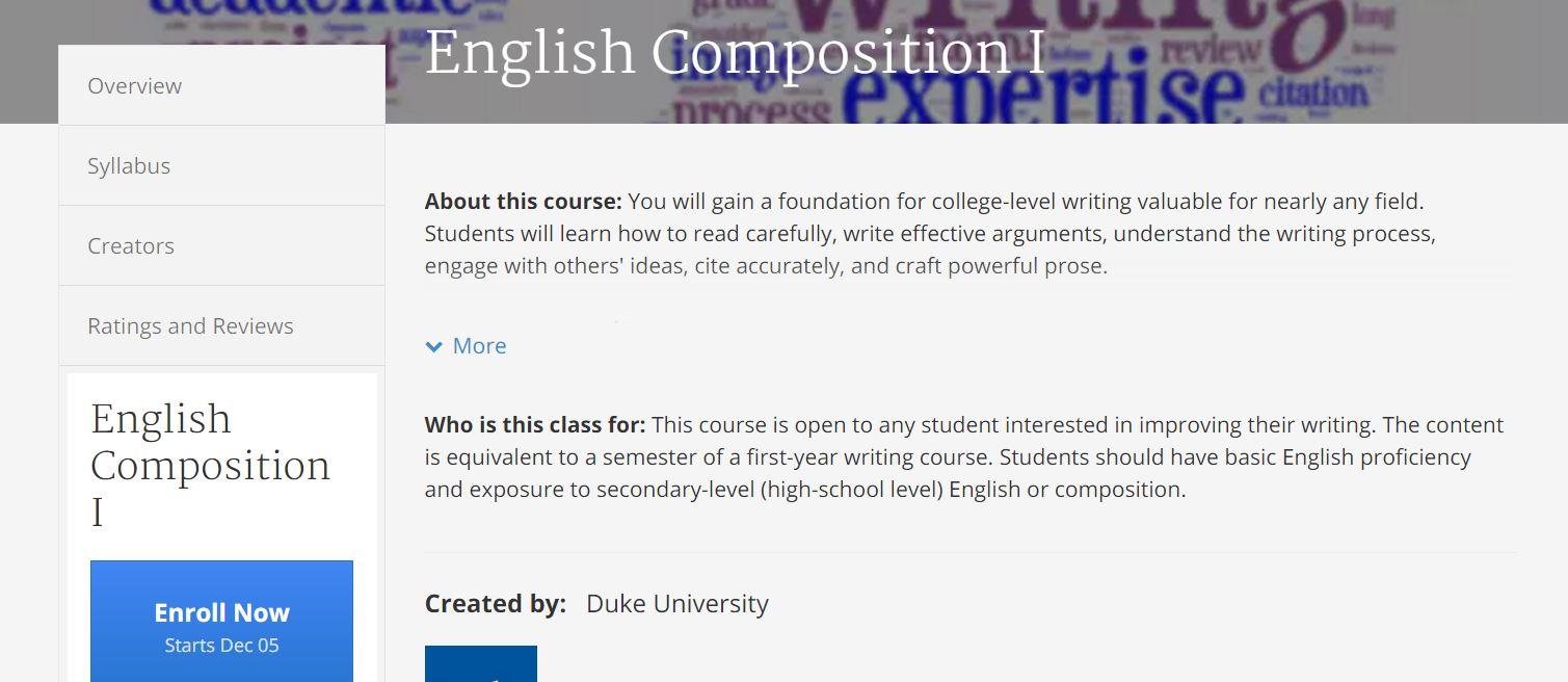 كورسات لغة إنجليزية