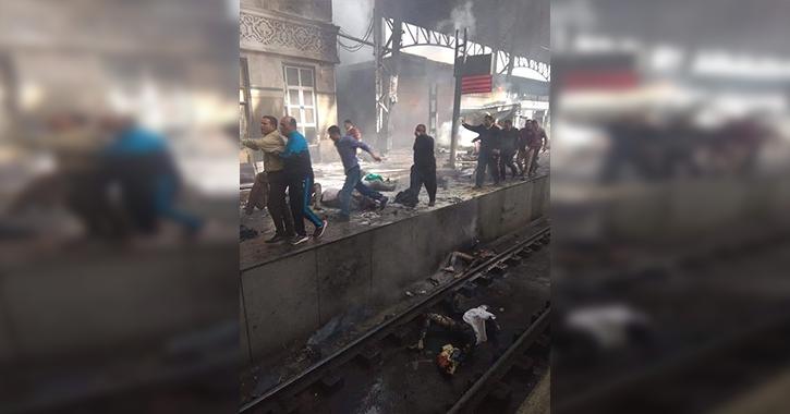 انفجار محطة مصر.. جثث متفحمة ووفيات (صور وفيديو)