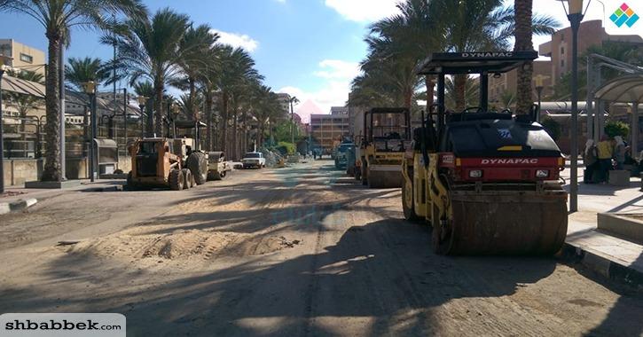 «لودرات ورمل وترميمات».. أعمال الصيانة بجامعة الإسكندرية مع انطلاق العام الدراسي الجديد