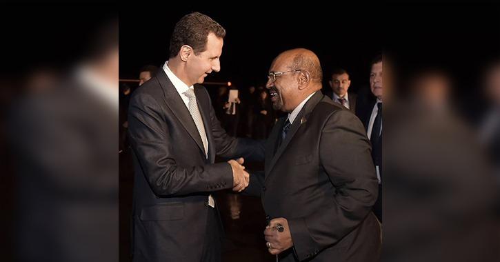 الرئيس السوداني عمر البشير يظهر بشكل مفاجئ في سوريا