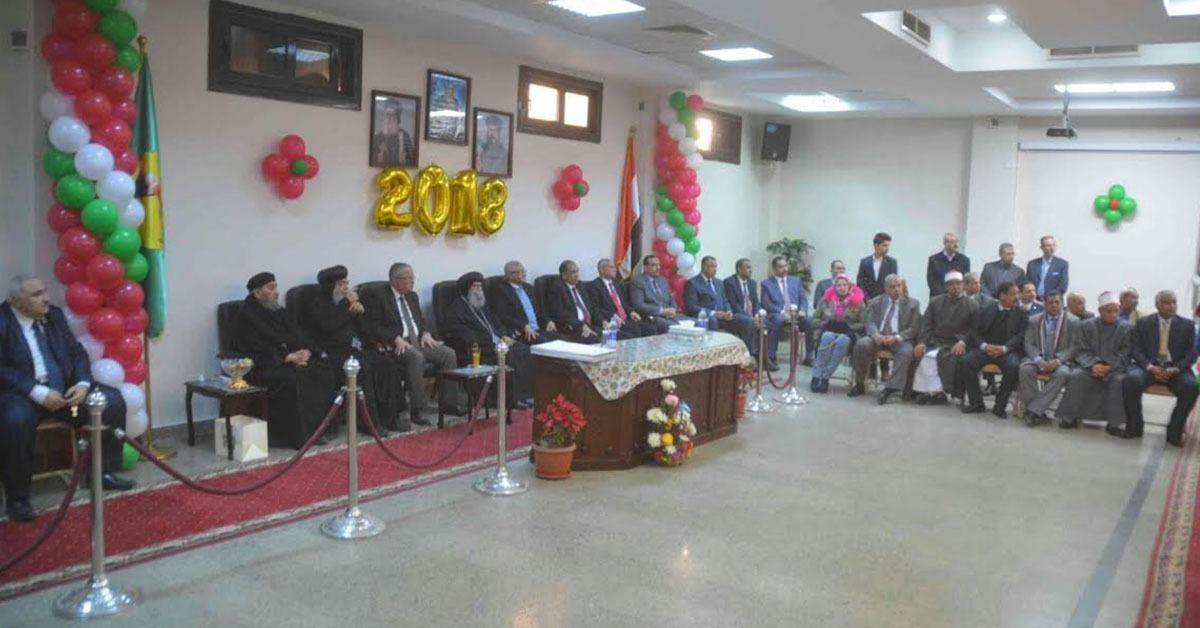 بالصور.. رئيس جامعة المنيا يهنىء أقباط المحافظة بعيد الميلاد