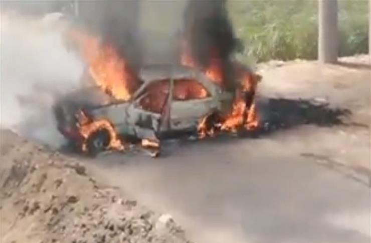 تفحم سيارة رئيس محكمة وادي النطرون وهو يقودها على الطريق الصحراوي