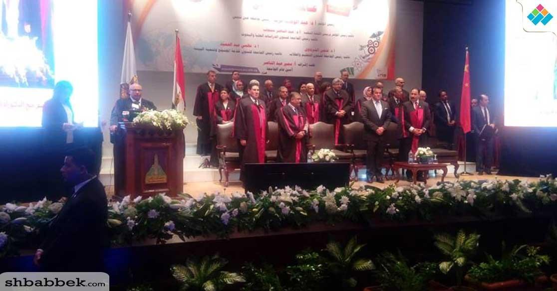 وزير التعليم العالي ورئيس مجلس النواب يشاركان بمؤتمر جامعة عين شمس «عالمية وانطلاق»