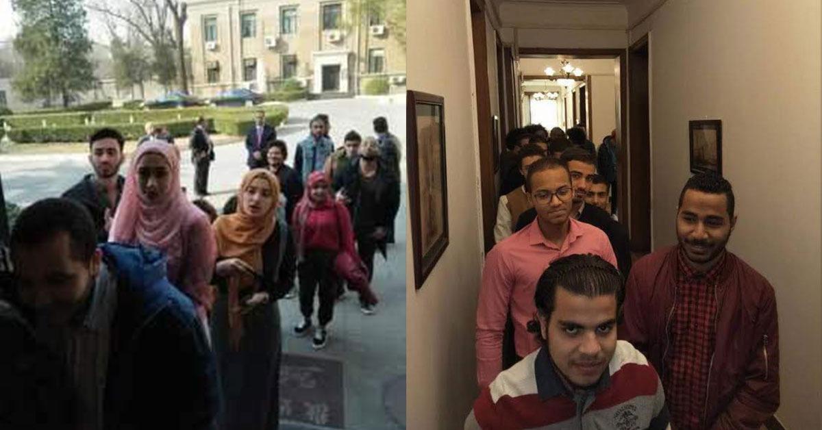 40 طالبا قطعوا 1200 كيلو من أجل الانتخابات الرئاسية