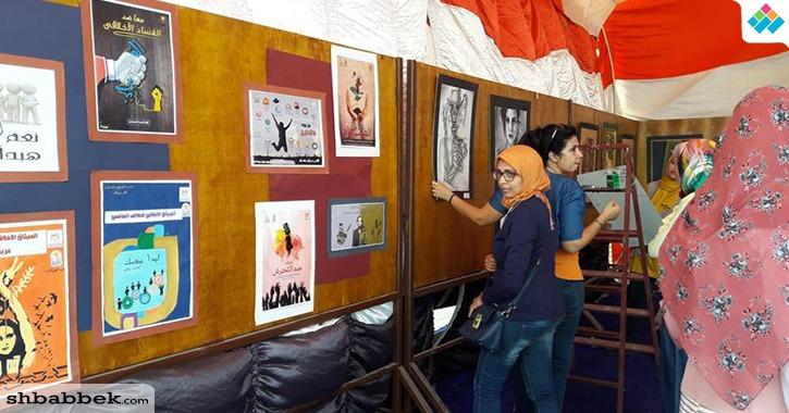 جامعة أسيوط تستعد لزيارة لجنة تقييم الجامعات وتقيم معرضا فنيا للطلاب