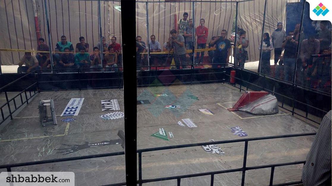 فوز فريق «KFS» بلقب «best loser» في مسابقات حرب الروبوتات بجامعة المنصورة