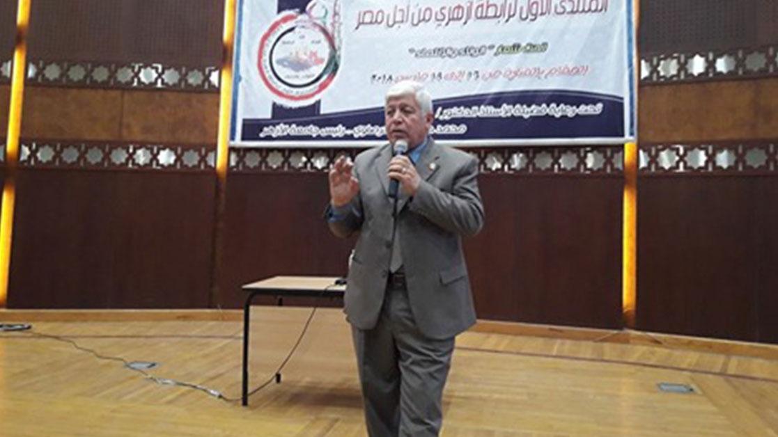 لواء عسكري لطلاب جامعة الأزهر: التفوا حول القيادة السياسية