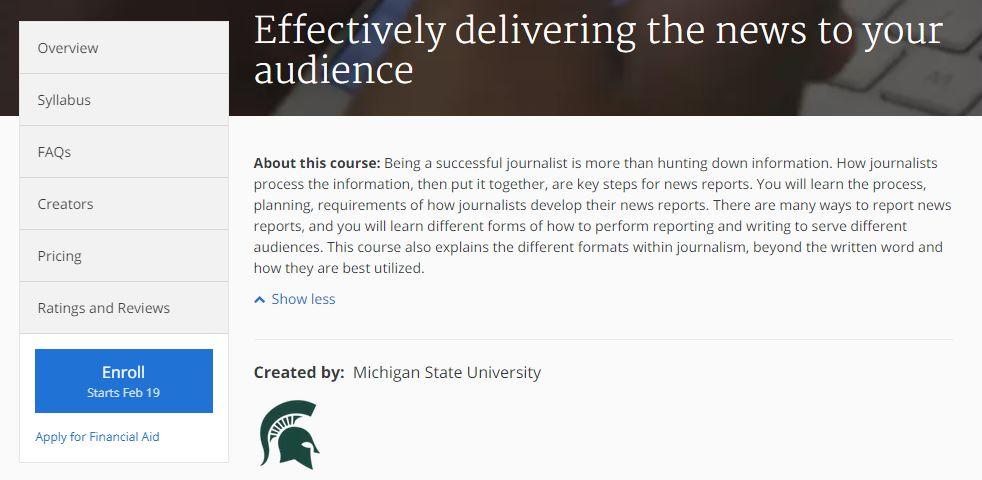 كورس ما هي أدواتك الصحفية