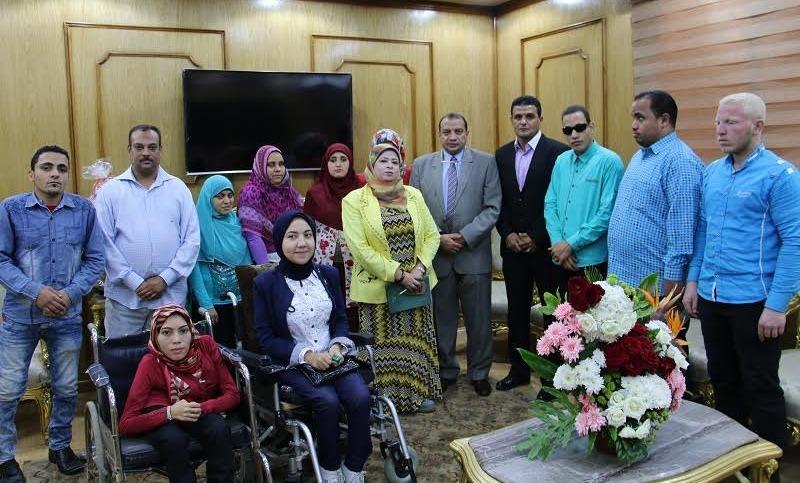تخصيص عمالة لخدمة «ذوي الإعاقة» بمدن جامعة بني سويف