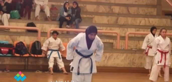 نهائي بطولة الكاراتيه بجامعة القاهرة طلبة وطالبات