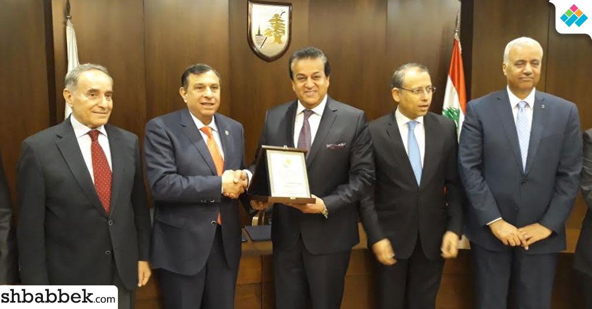 وزير التعليم العالي يشهد توقيع اتفاقية تعاون بين جامعتي بيروت العربية والإسكندرية