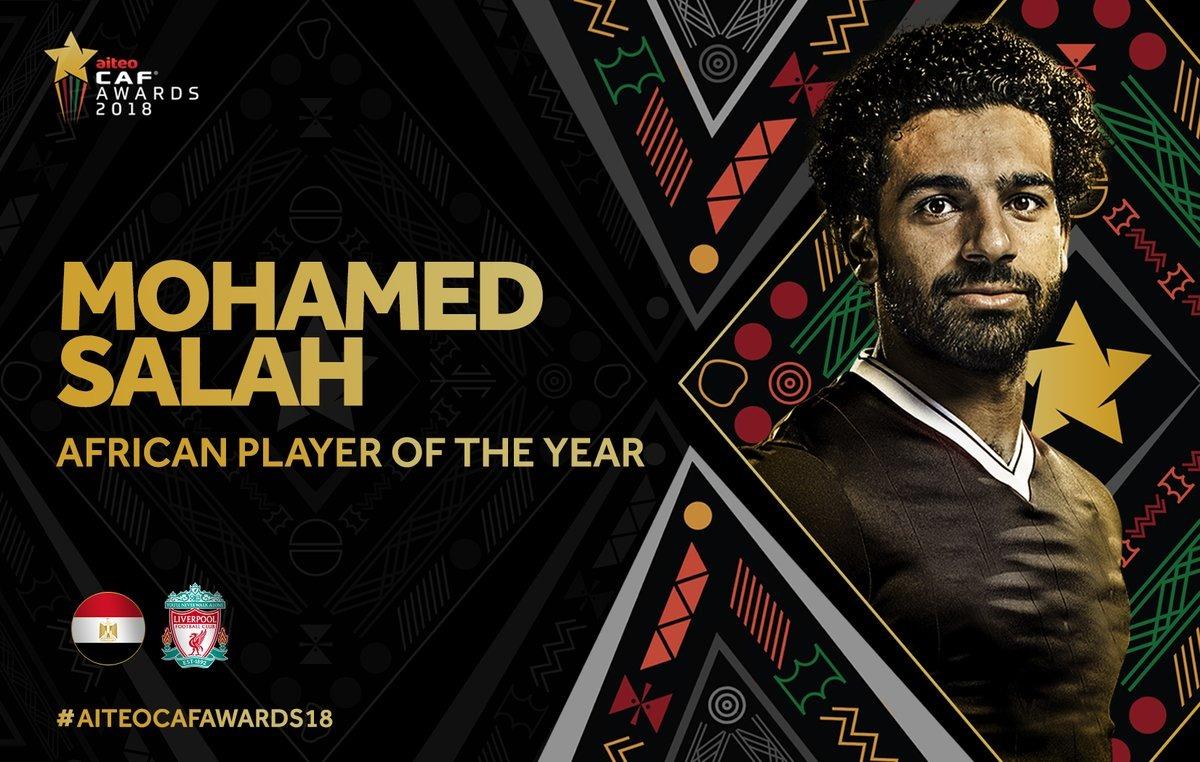 محمد صلاح أفضل لاعب في إفريقيا للعام الثاني