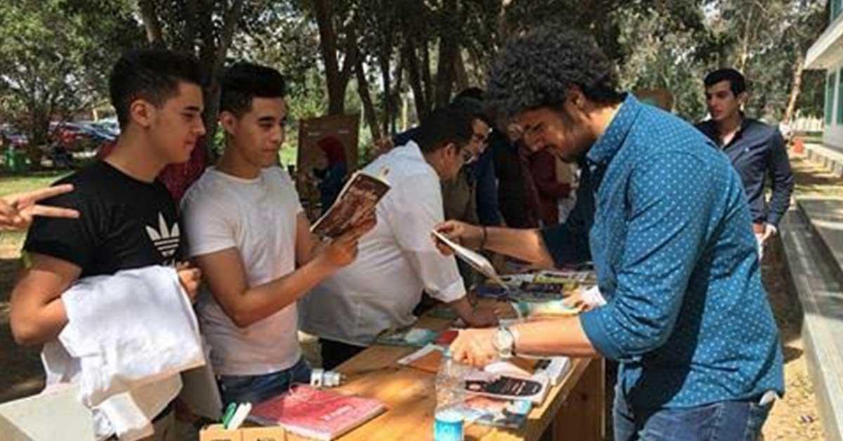 الاتحاد المصرى لطلاب الصيدلة بجامعة هليوبوليس ينظم حملة للتوعية بأهمية القراءة