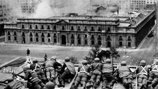 قصف القصر الجمهوري خلال الانقلاب العسكري المسلح في تشيلي