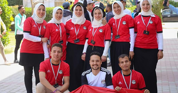 طلاب بكلية إعلام بني سويف ينتجون أغنية لتشجيع منتخب مصر في بطولة أمم أفريقيا