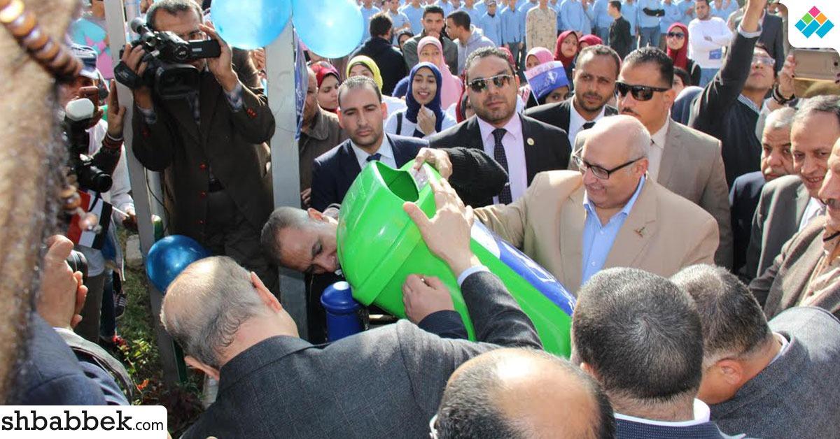 انطلاق فاعليات حملة «خليك زي آدم» من جامعة عين شمس (صور)