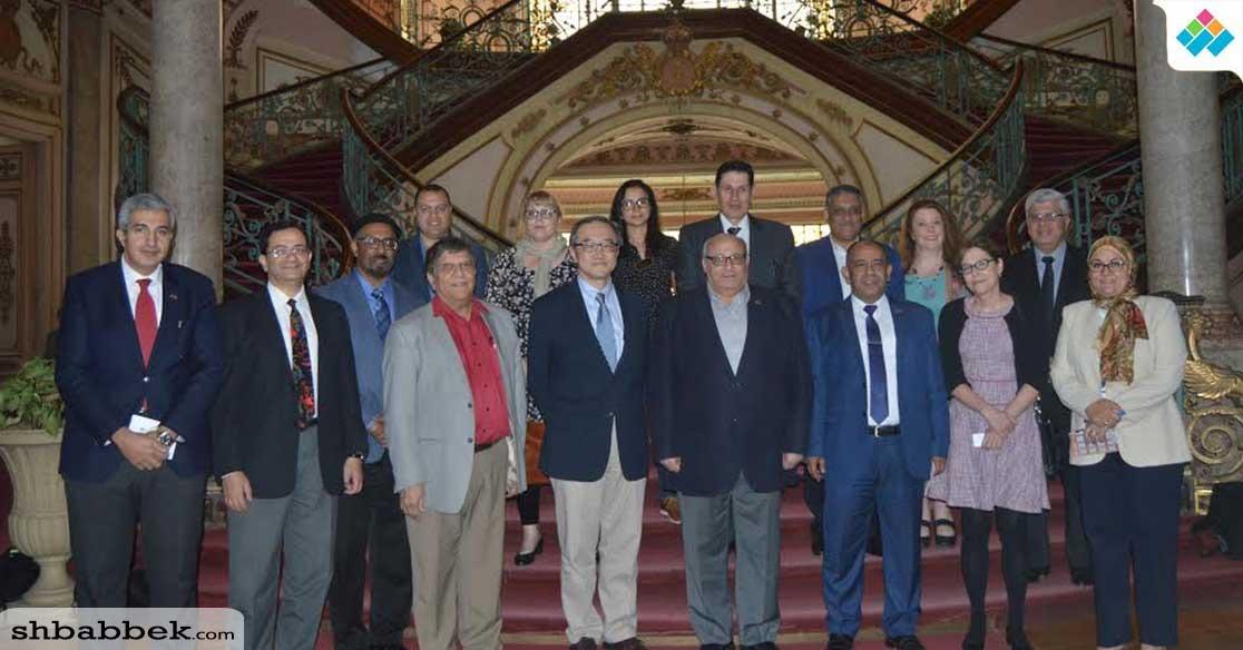 وفد جامعة «purdue» الأمريكية في زيارة لجامعة عين شمس