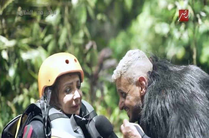 شاهد.. ماذا قالت شهيرة لزوجها محمود ياسين بعد مقلب «رامز في الشلال»