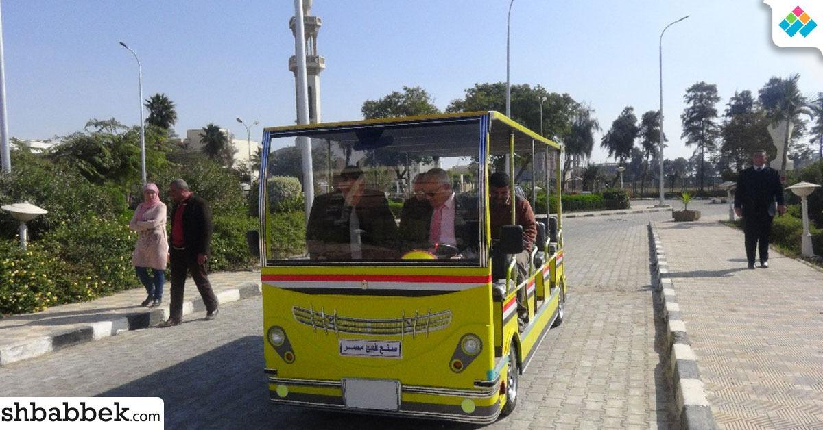 جامعة المنيا تصنع «طفطف» يعمل بالطاقة الشمسية لنقل الطلاب