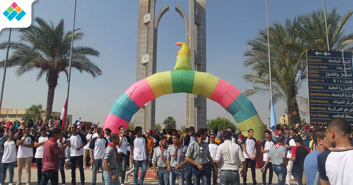 جامعة حلوان تتزين لاستقبال وزير التعليم العالي (صور)