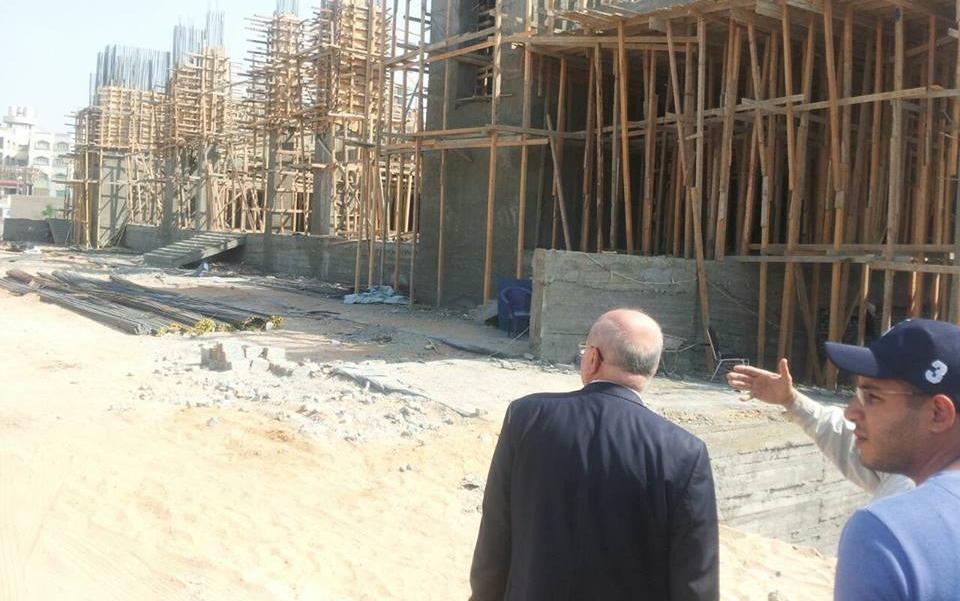 رئيس جامعة الزقازيق يتفقد إنشاءات مستشفى الطوارىء