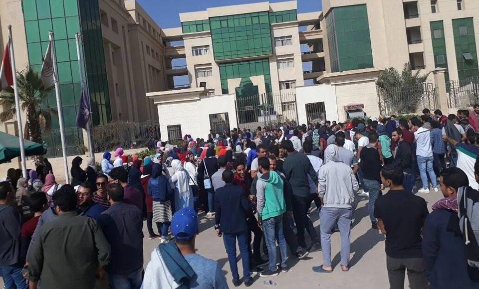 بعد تظاهر الطلاب.. تعليق الدراسة والامتحانات في جامعة النهضة