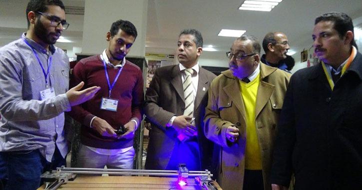 جامعة المنيا تشارك في مسابقات الأجهزة الهندسية بأسبوع شباب الجامعات