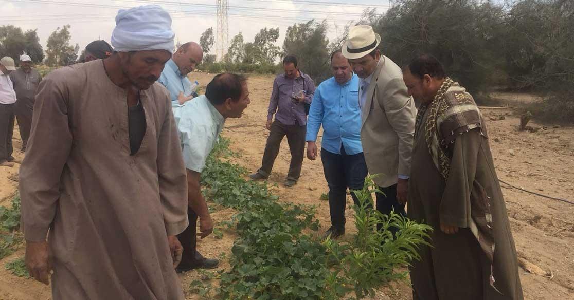 نائب رئيس جامعة المنيا يزور مركز التجارب والبحوث الزراعية (صور)