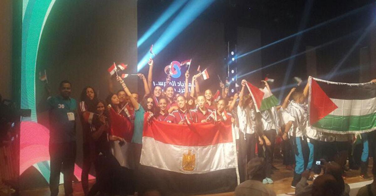 التربية والتعليم تشارك في دورة الجمنزياد المدرسي العربي الأول بلبنان (صور)