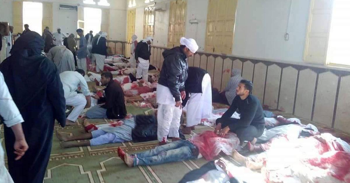 جامعات مصر تنعي ضحايا تفجير مسجد الروضة بالعريش