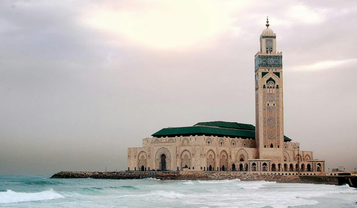 مسجد الحسن الثاني ببالدار البيضاء