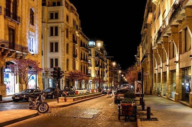 وسط بيروت ليلا