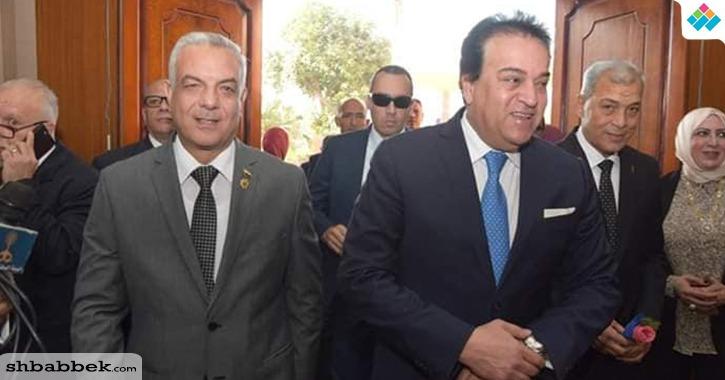 بالصور.. رئيس جامعة المنوفية يستقبل وزير التعليم العالي وأعضاء المجلس الأعلى للجامعات