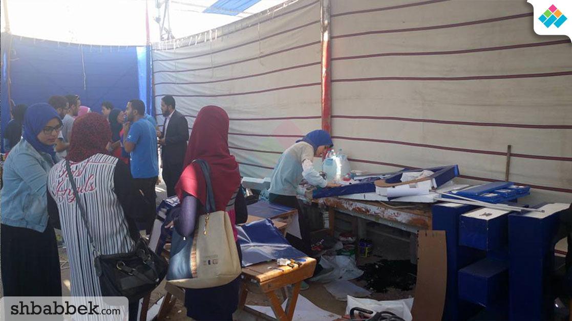 15 فريقا طلابيا يشاركون في «حرب الروبوتات» بجامعة المنصورة