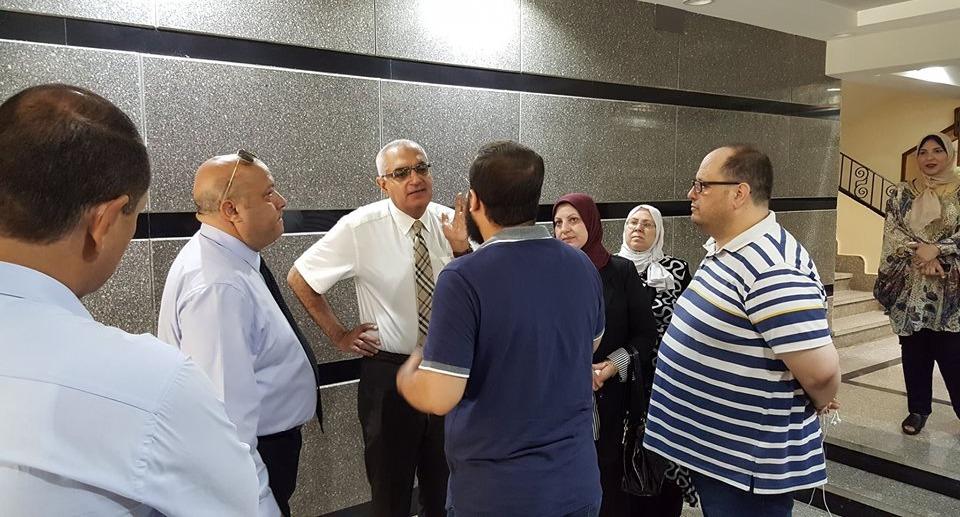 نائب رئيس جامعة المنصورة يتفقد مدينة الطالبات