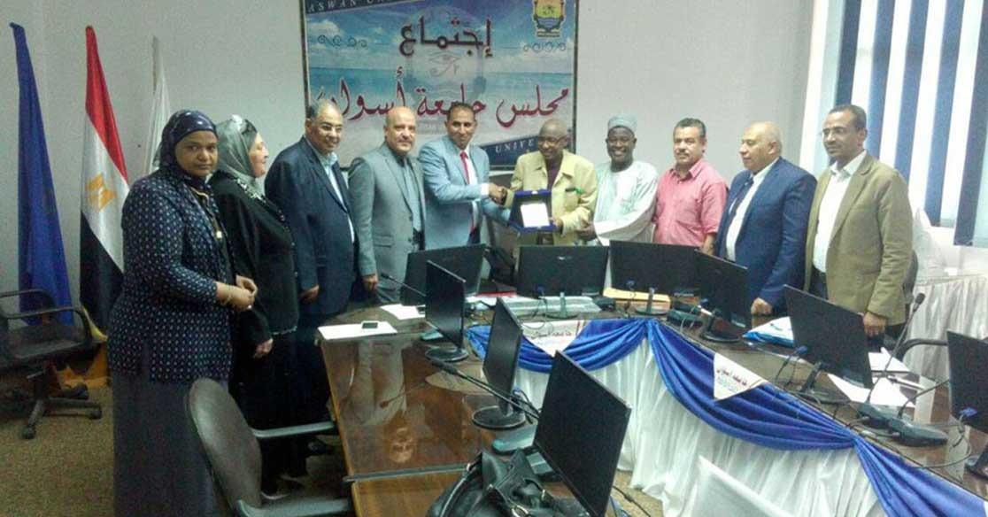 جامعة أسوان توقع مذكرة تعاون مع وفد من نيجيريا